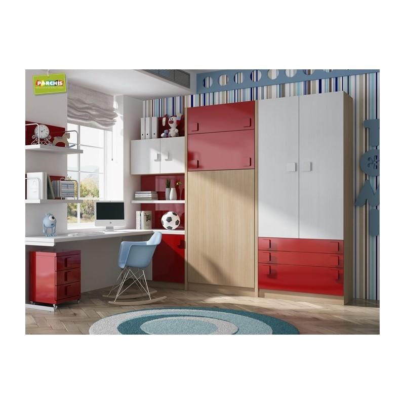 Habitacionesjuvenilesparadolescentes - Muebles cama abatibles ...