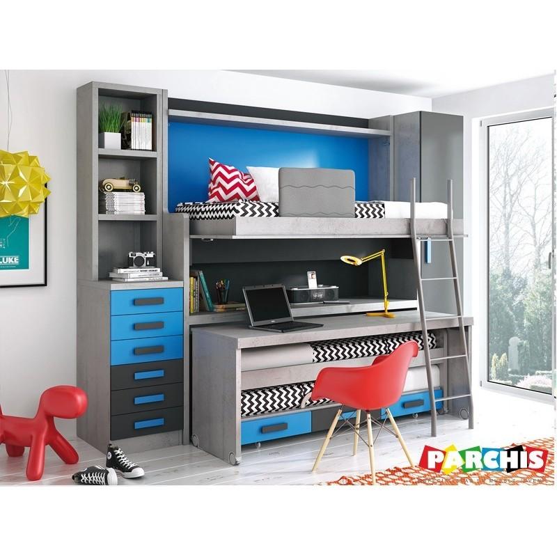 Camas del real madrid para habitaciones - Habitaciones con literas juveniles ...