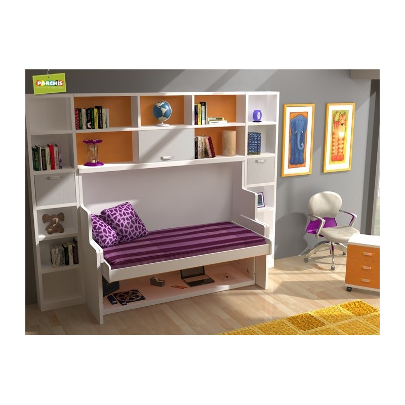 Camas tipo tren literas fijas muebles juveniles con - Camas tipo tren ...