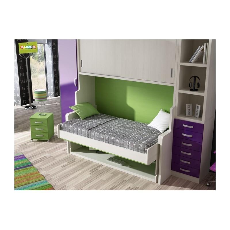 Literas con tres camas un dormitorio con literas para dos for Dormitorios juveniles de tres camas