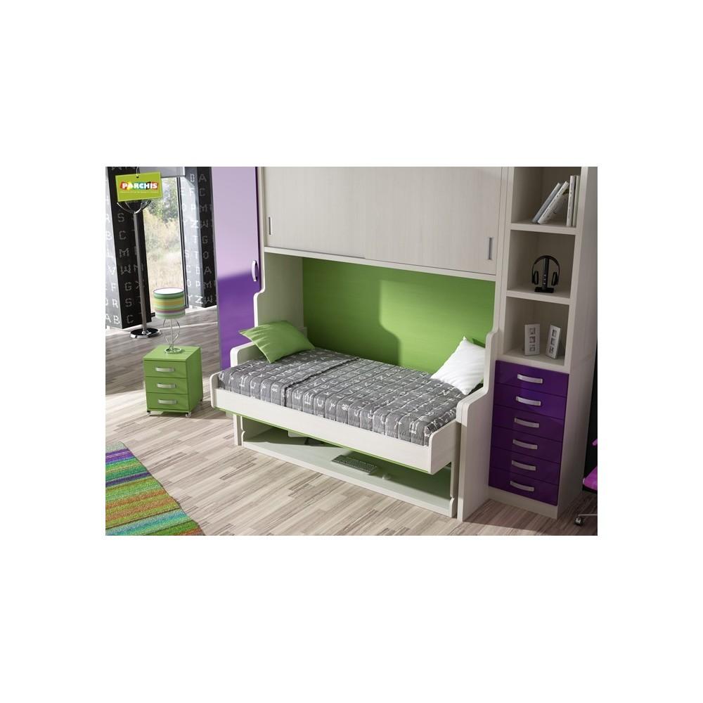 Muebles cama literas fijas en madrid mueblesbloque madridmuebles literas - Cama tipo tren ...