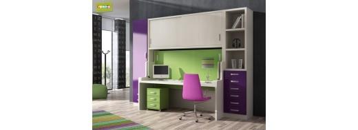 Habitaciones para ni os literas tipo tren desplazadas for Muebles de oficina jovalu