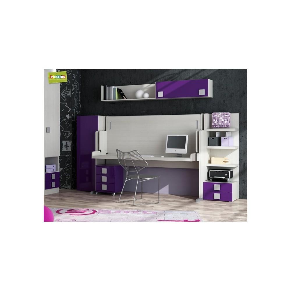 Literas fijas camas bloque for Muebles de escritorio precios