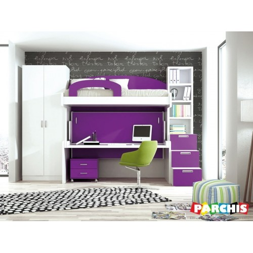 Muebles juveniles para chicas habitaciones juveniles for Dormitorios dos camas modernos