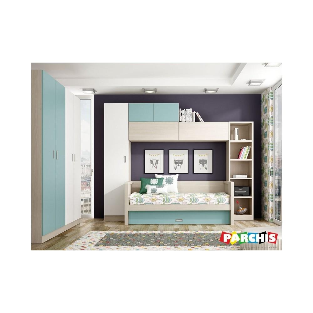 Muebles juveniles con camas compactas camas dobles para - Muebles compactos juveniles ...