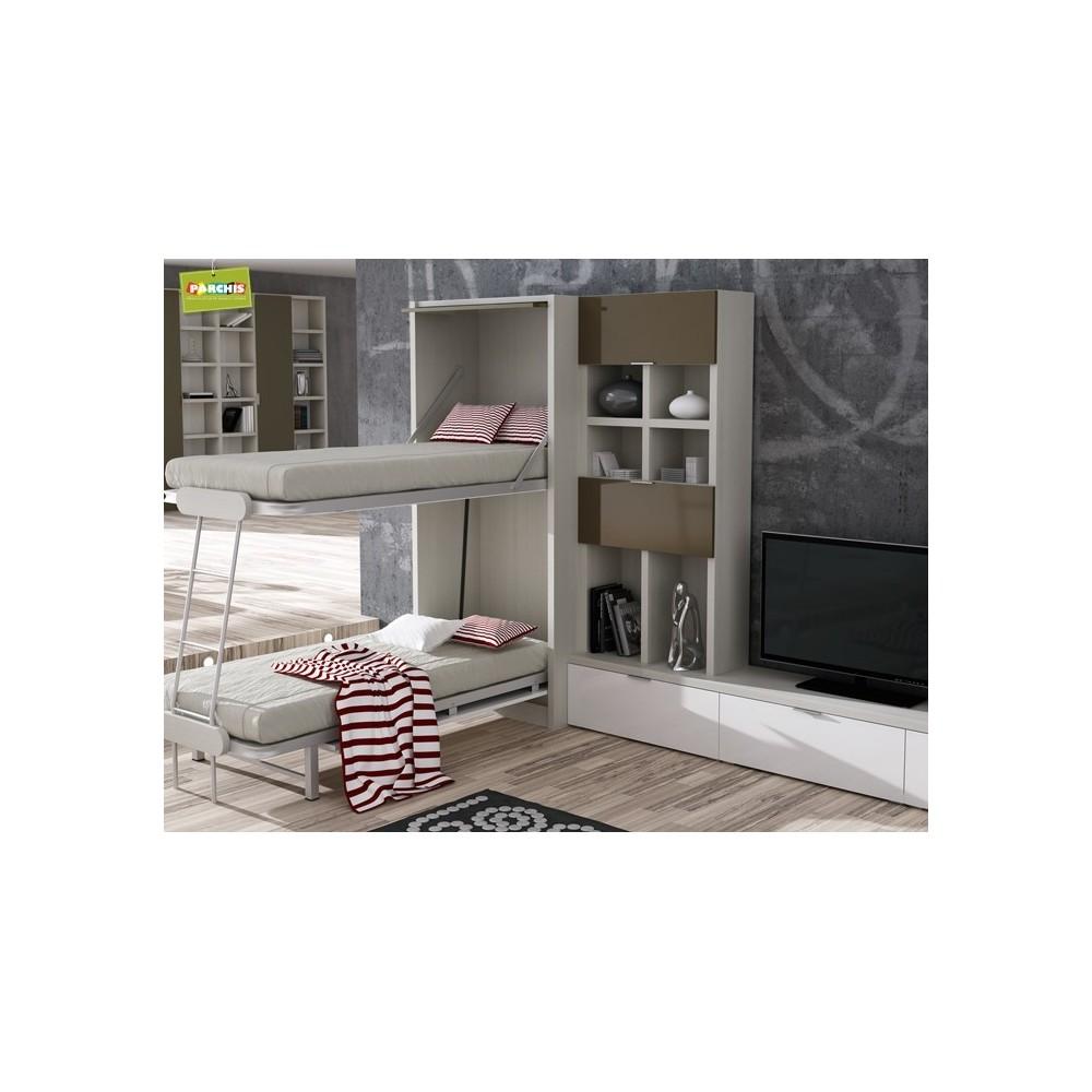 Muebles juveniles con compactos dobles camas juveniles for Muebles de oficina jovalu