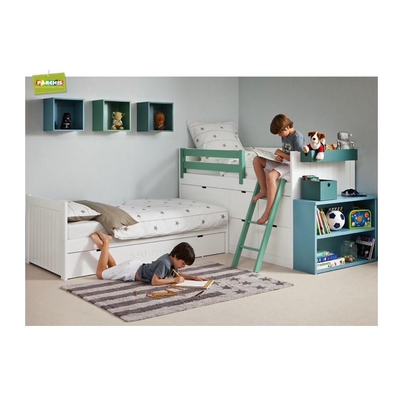 Literas fijas en dos camas camas fijas dobles for Habitaciones juveniles con cama grande