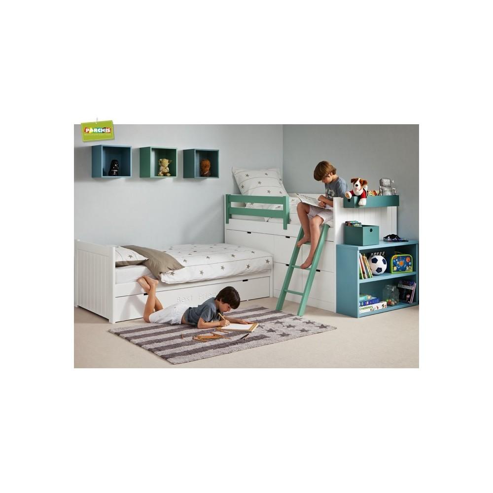 Literas fijas en dos camas camas fijas dobles - Habitaciones de dos camas juveniles ...