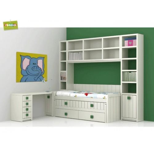 Dise o de mueblesjuveniles amueblar con literas fijas de for Habitaciones juveniles cama 105