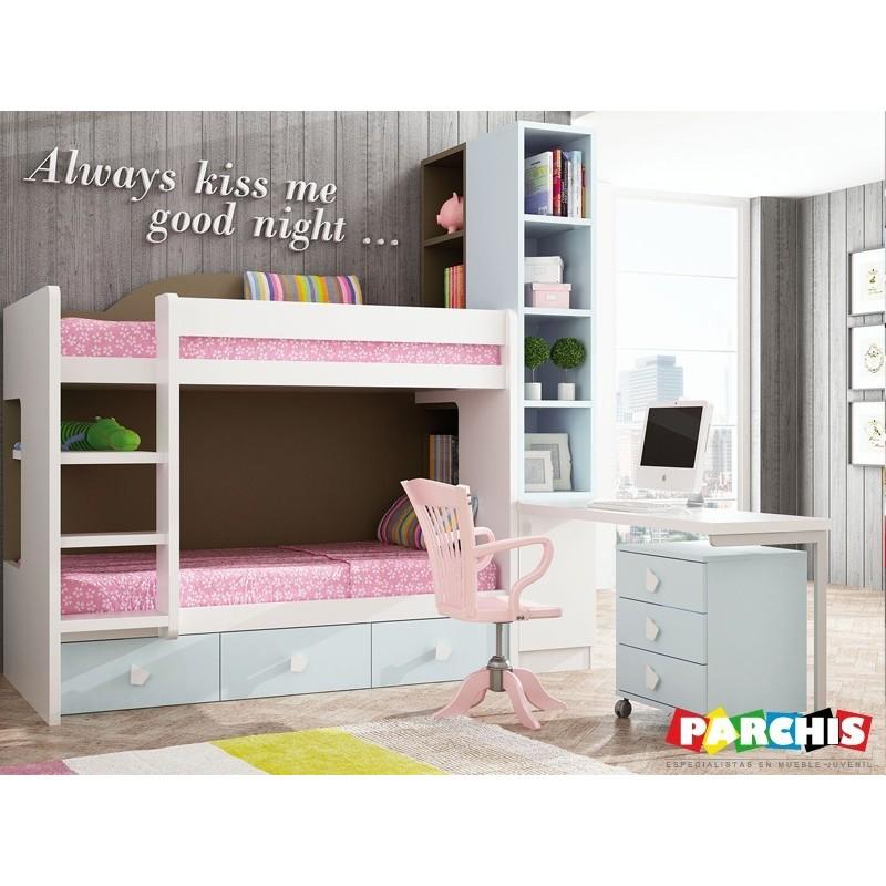 dormitoriosjuvenilesparachicas ventamueblesjuvenilesenmadrid On dormitorios juveniles con cama grande