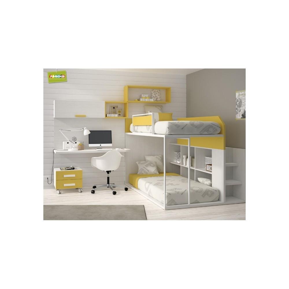 Muebles troncoso camas individuales 20170721103123 - Literas para tres ...