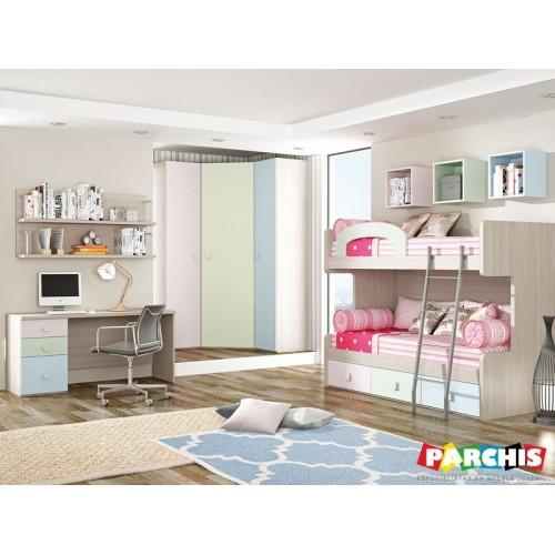 Dormitorios con literas abatibles tienda habitaciones - Dormitorios infantiles literas ...