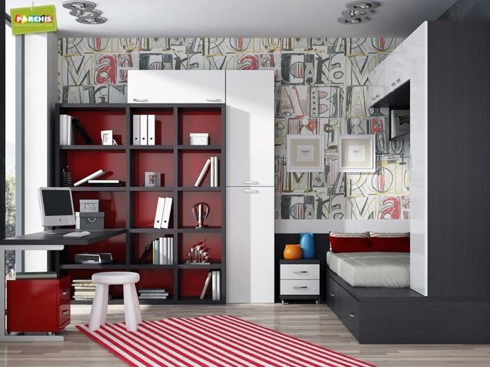 Muebles juveniles con tres camas, literas triples venta en madrid