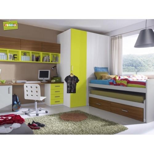 Muebles juveniles con literas tipo tren venta mueble tipo tren madrid - Habitaciones juveniles tipo tren ...