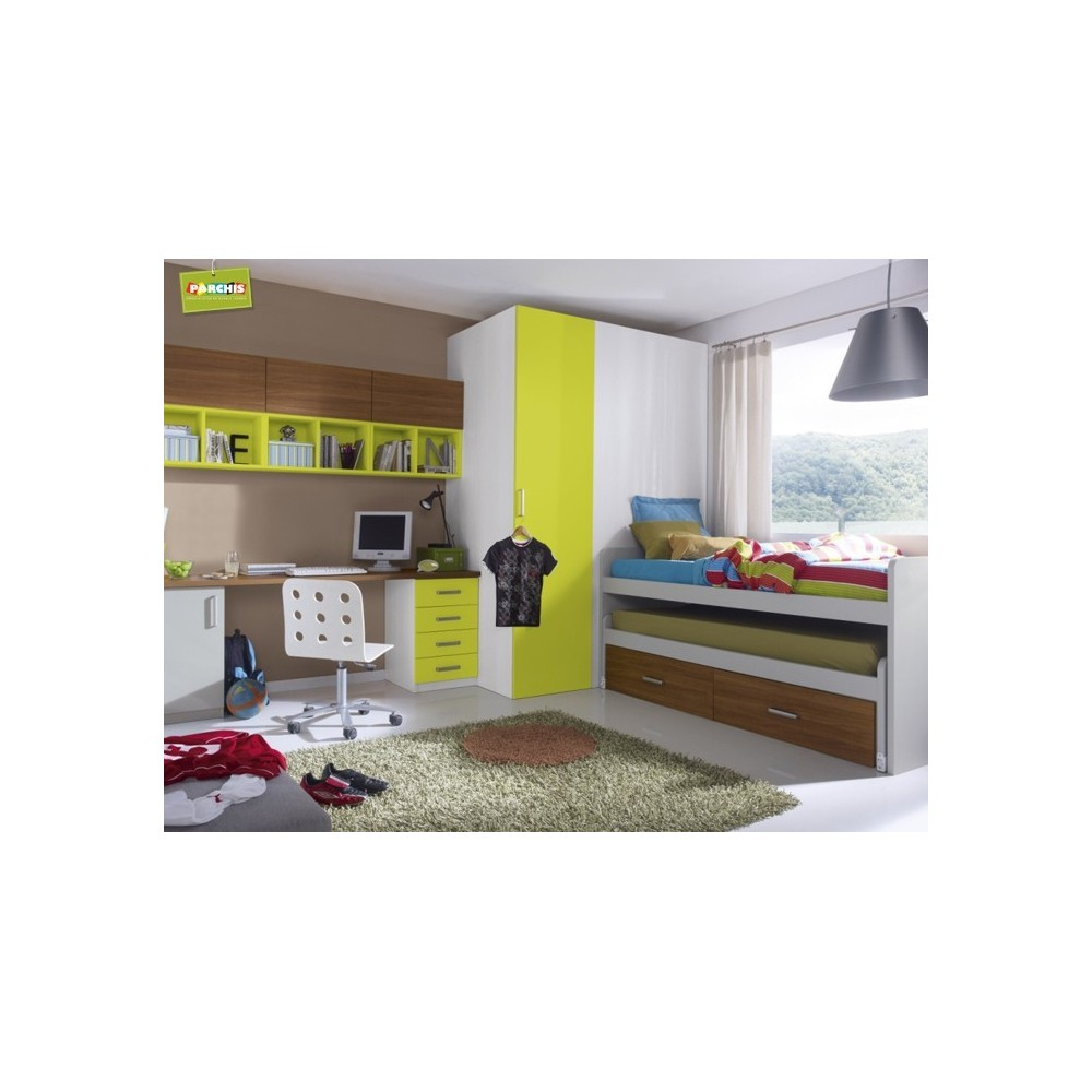 Muebles juveniles con literas tipo tren venta mueble tipo for Dormitorios juveniles con cama grande