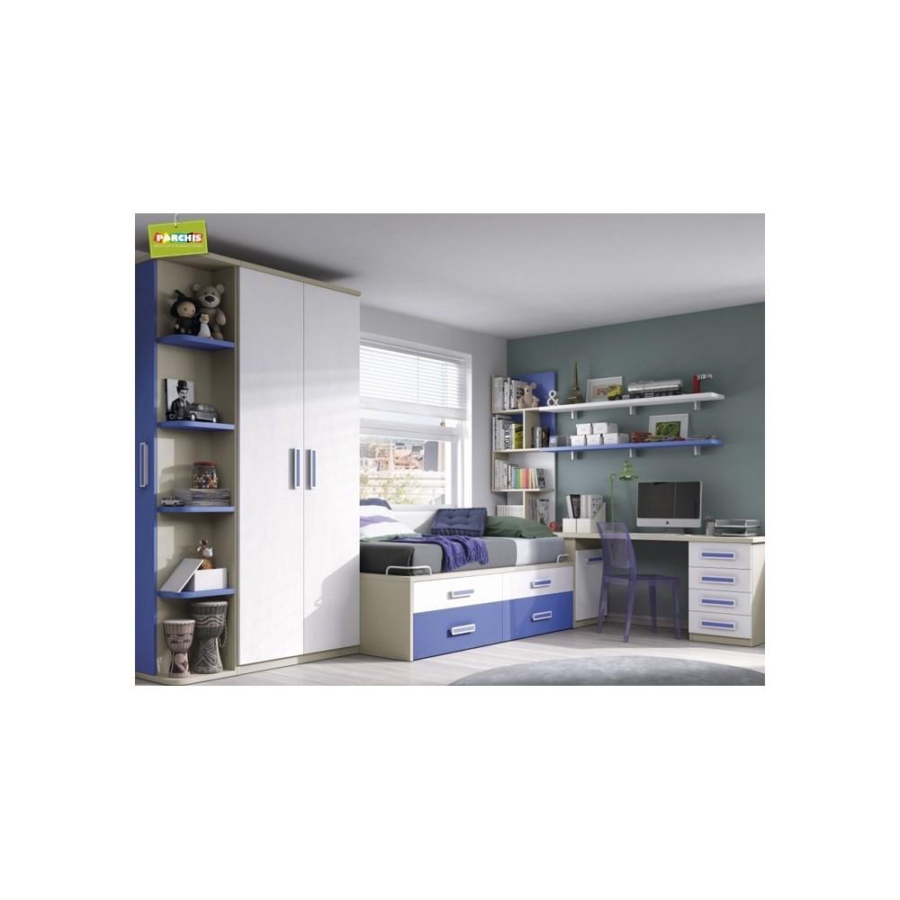 Habitaciones infantiles con dos camas - Muebles dormitorios infantiles ...