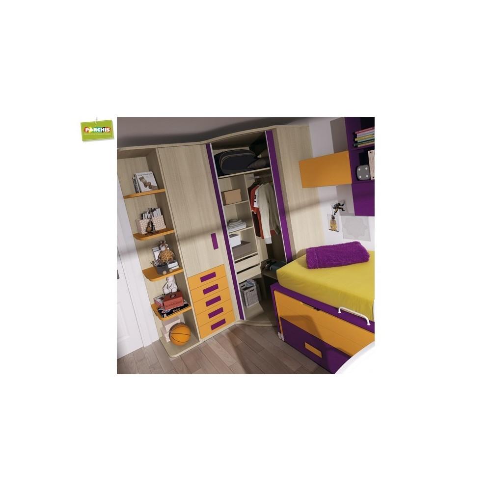 Muebles infantiles con dos camas habitaciones para ni os - Camas tren infantiles ...
