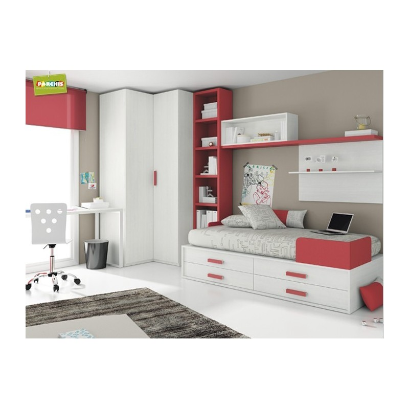 Composiciones juveniles con camas nido para chicas infantiles for Camas nido compactas