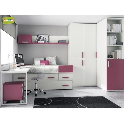 Dormitorios juveniles para espacios muy pequeos amazing - Camas abatibles juveniles para espacios reducidos ...