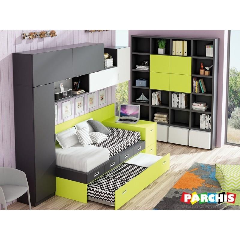 Dormitorio lacado blanco en madrid 04 tienda habitaciones juveniles - Dormitorios juveniles en madrid ...