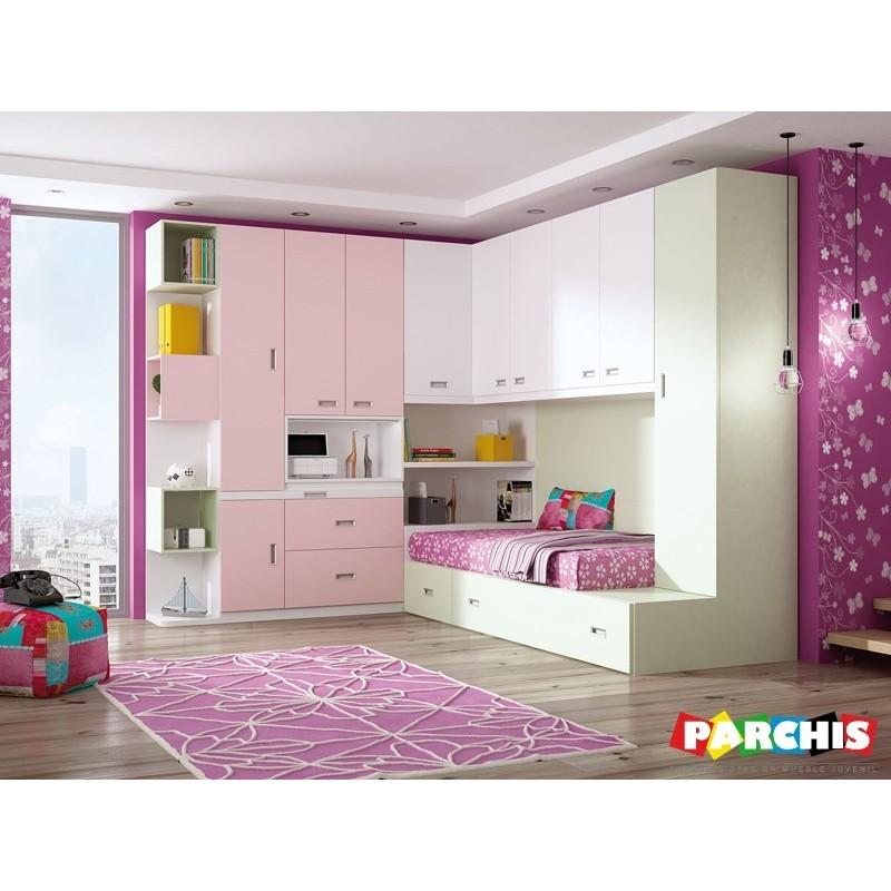 Dormitorio lacado blanco en madrid 05 tienda habitaciones juveniles - Dormitorios juveniles en madrid ...