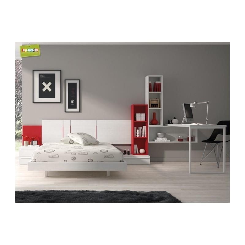 Dormitorio lacado blanco en madrid 24 tienda habitaciones juveniles - Dormitorios juveniles en madrid ...