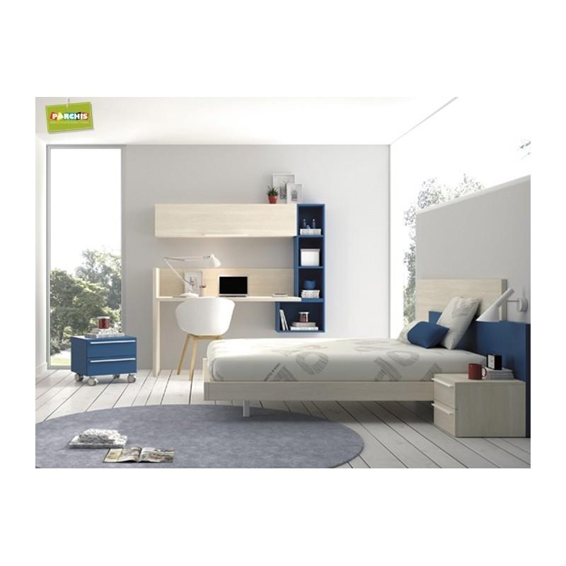Dormitorio lacado blanco en madrid 25 tienda habitaciones juveniles - Dormitorios juveniles en madrid ...