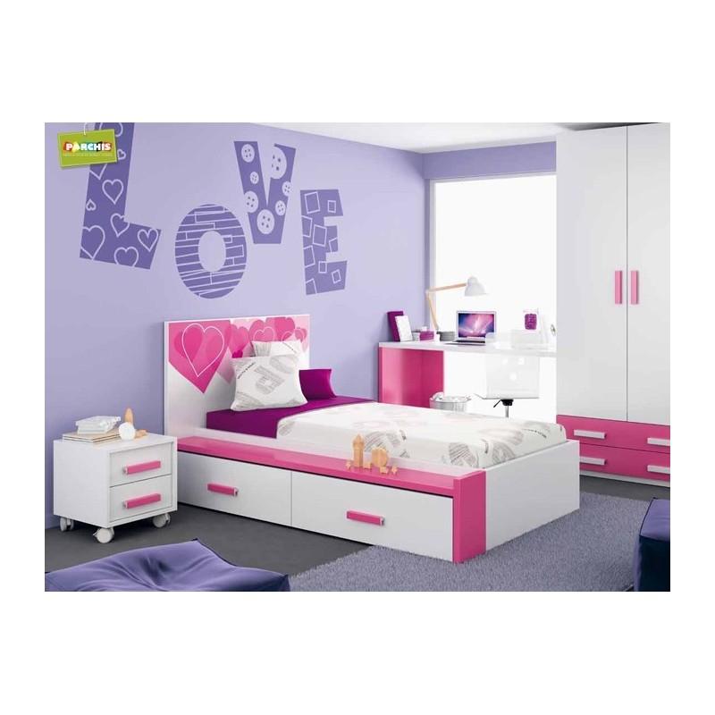 Dormitorio lacado blanco en madrid 35 tienda habitaciones juveniles - Dormitorios juveniles en madrid ...