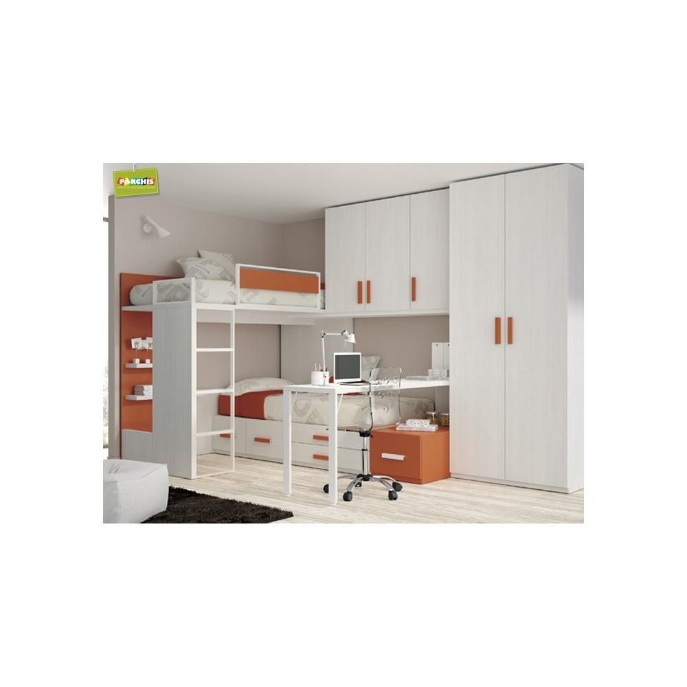 Comprar camas plegables verticales muebles en madrid - Dormitorios juveniles espacios pequenos ...