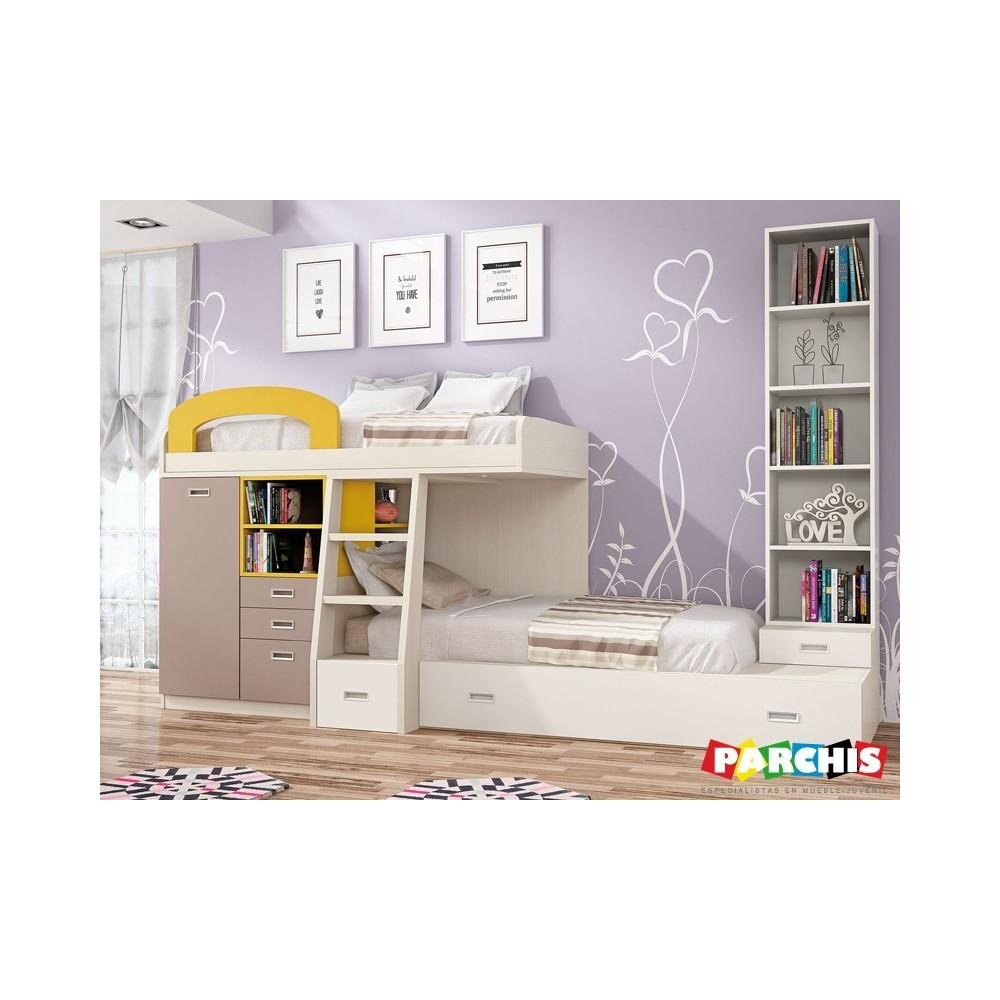 Muebles juveniles con camas abatibles sof mueble sof cama for Sofa cama matrimonio segunda mano