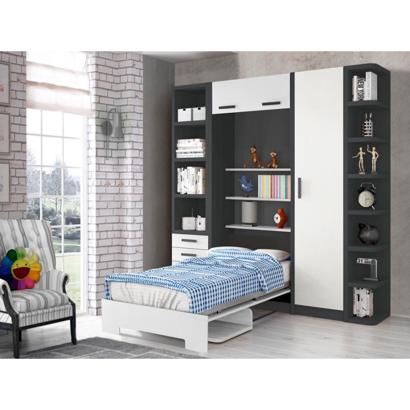 Literas horizontales abatibles malaga comprar abatibles for Dormitorios juveniles dos camas