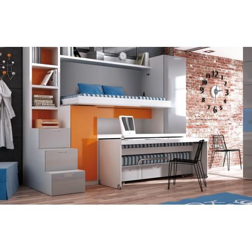 22-Venta Muebles Juveniles con camas compactas y escritorio Valdemoro