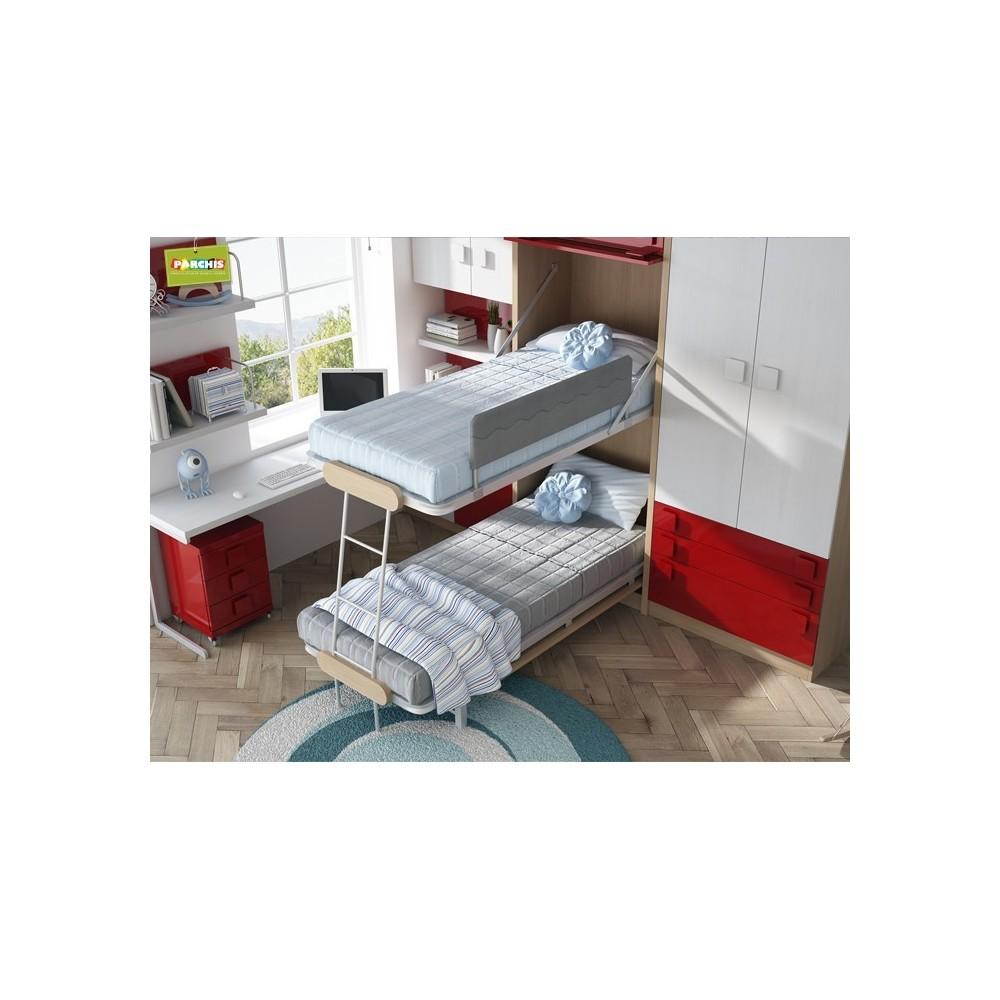 Dormitorios con literas abatibles verticales con tatami - Dormitorios juveniles dobles ...