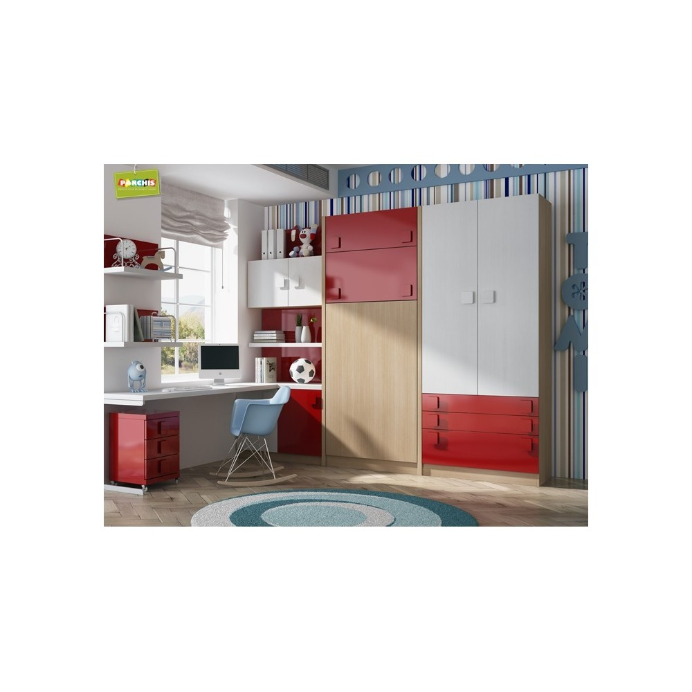 Dormitorios con literas abatibles verticales con tatami - Muebles shena literas ...