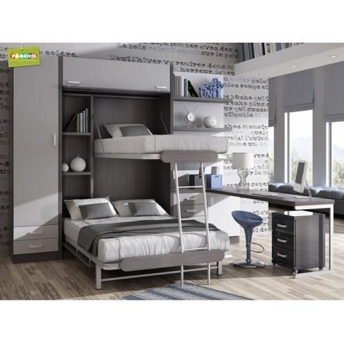 Dormitorios con Literas Abatibles Verticales Triple