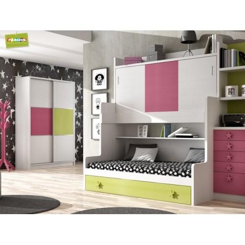 Dormitorios con Camas Triples Abatibles