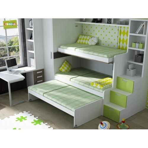 Dormitorios con Camas Triples para Pladur