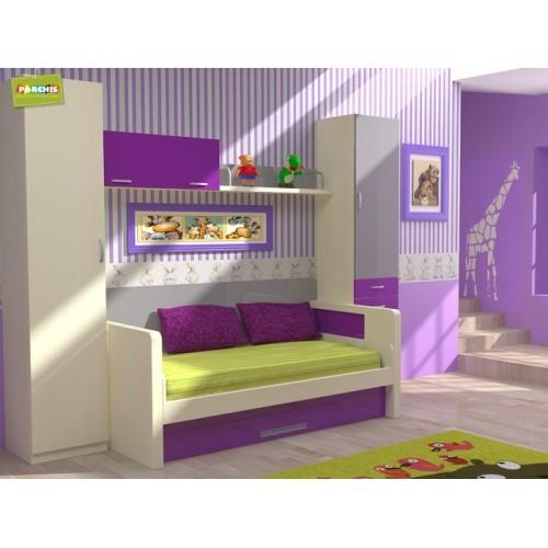 8-Cama nido para niños con mesa de escritorio, muebles en Moratalaz