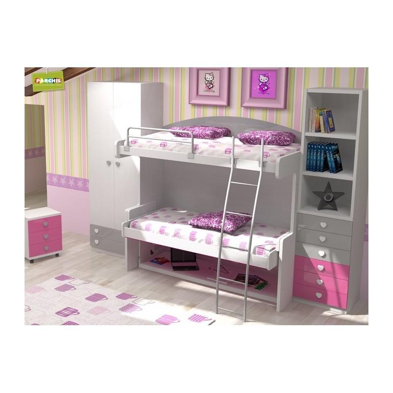 14-Dormitorios Juveniles con literas convertibles en Usera, Madrid