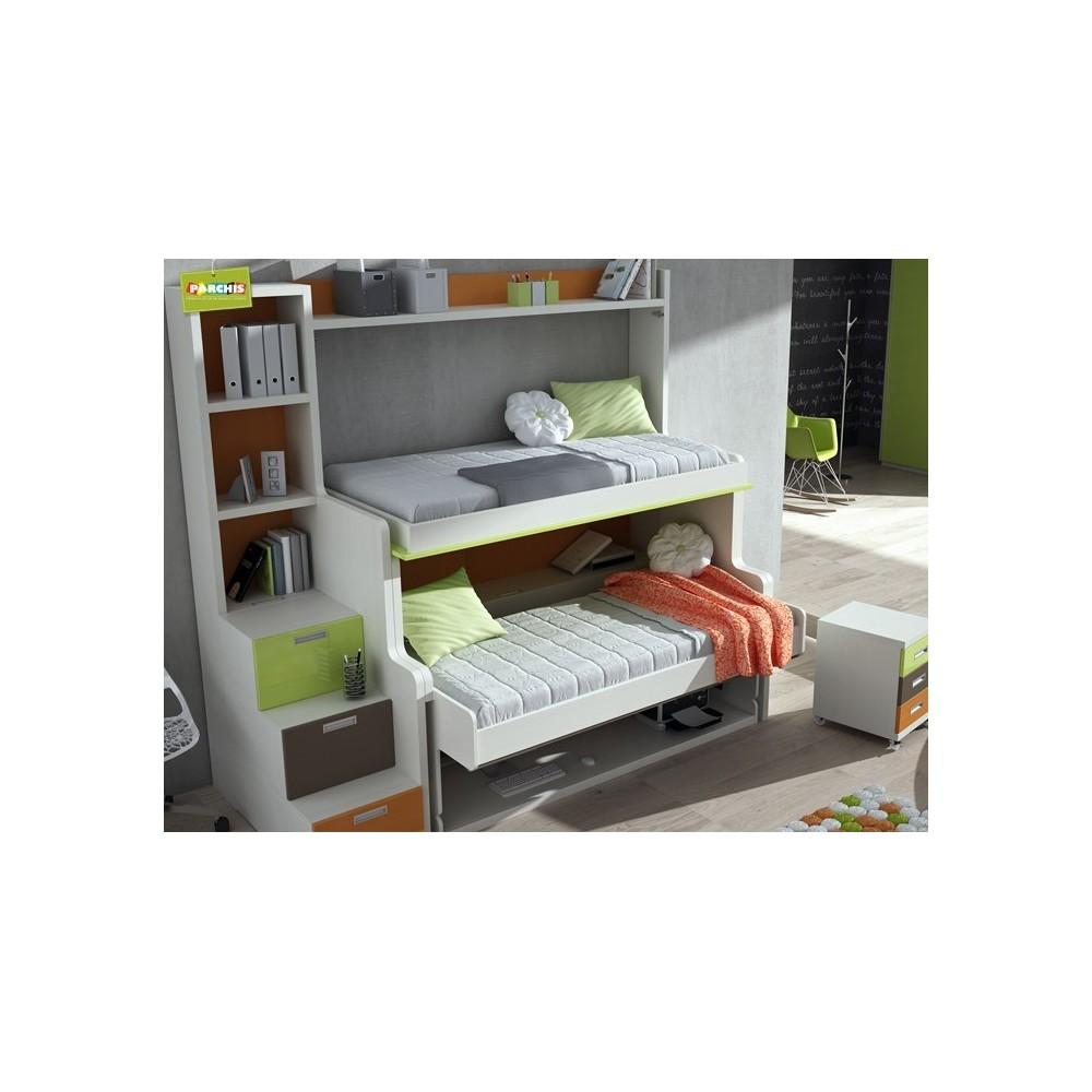 Mobiliario juvenil con literas abatibles dobles muebles Mobiliario juvenil ikea