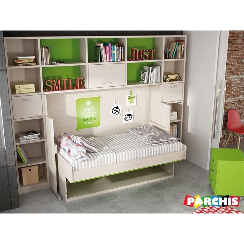 Cama mesa convertible camas abatibles para residencias for Dormitorios juveniles camas abatibles con escritorio