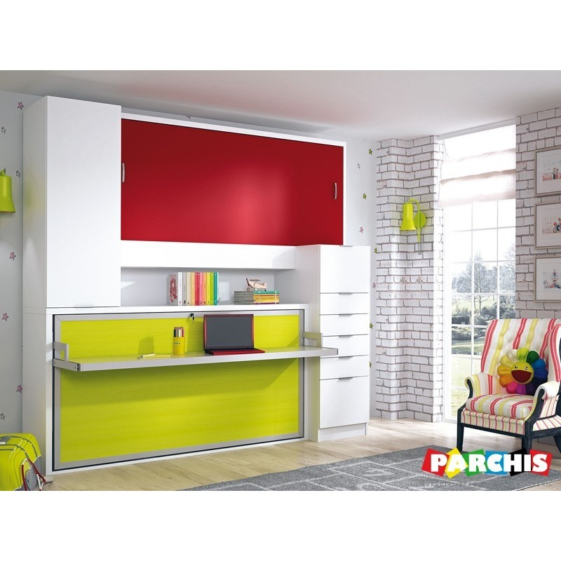 Muebles literas para pladur abatibles de calidad y for Muebles de salon para espacios pequenos