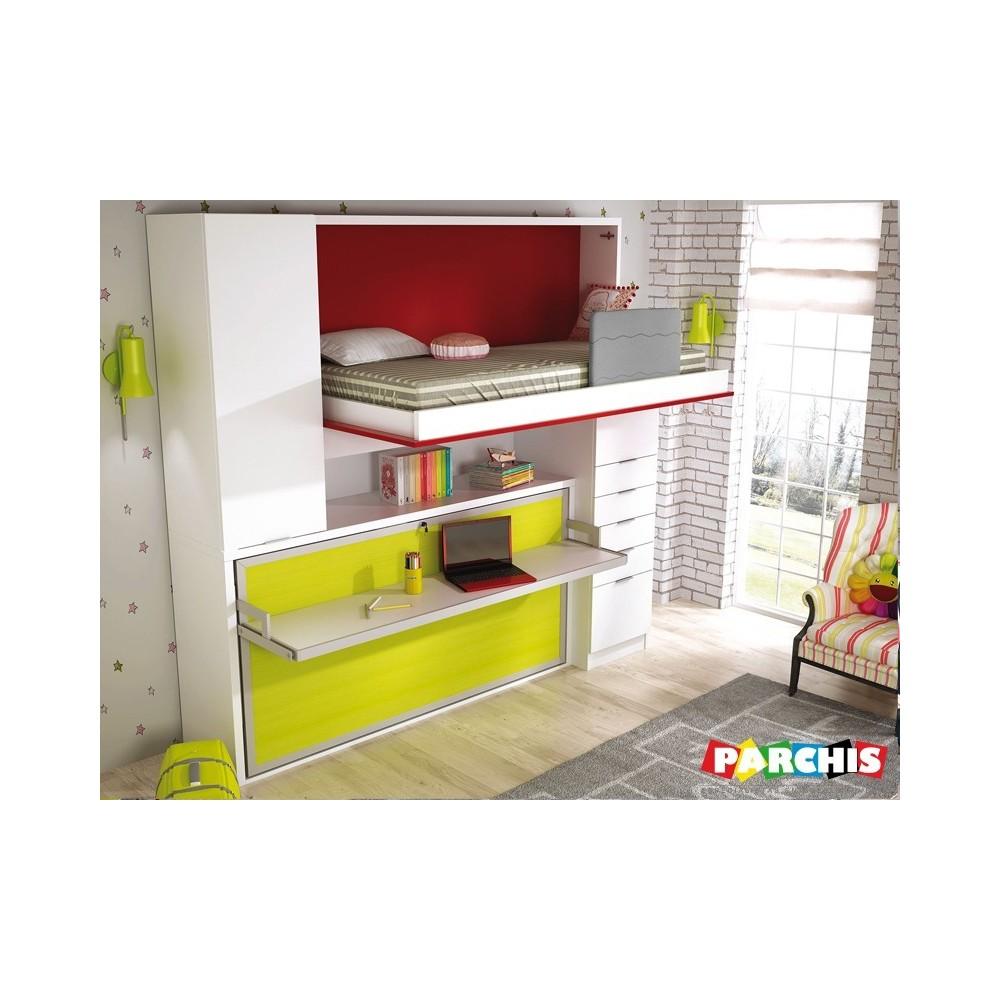 Muebles literas para pladur abatibles de calidad y for Zapateras para espacios pequenos