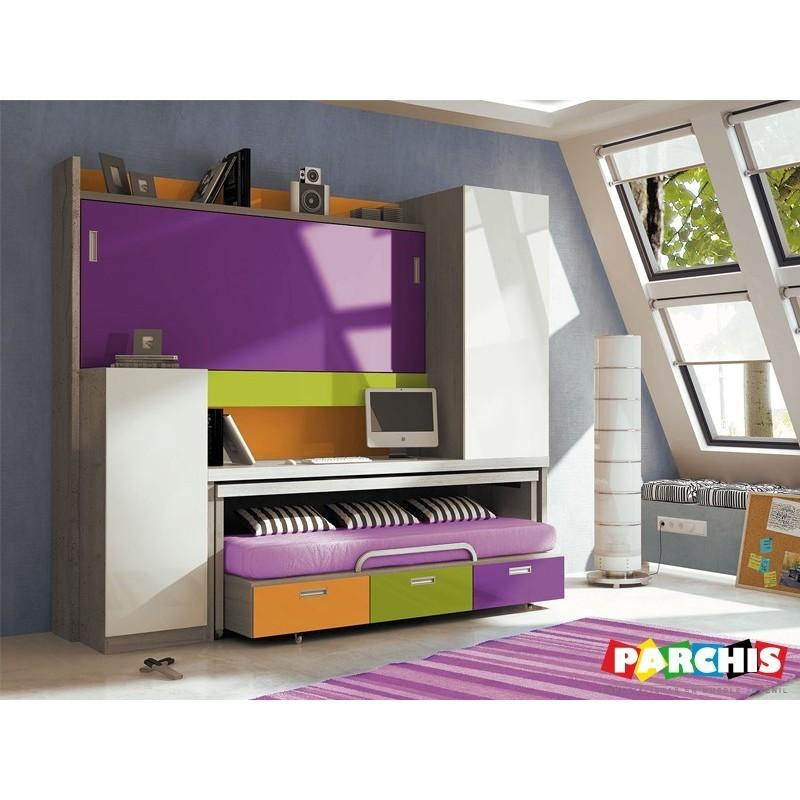 Camas abatibles juveniles para espacios reducidos camas - Dormitorios juveniles espacios pequenos ...
