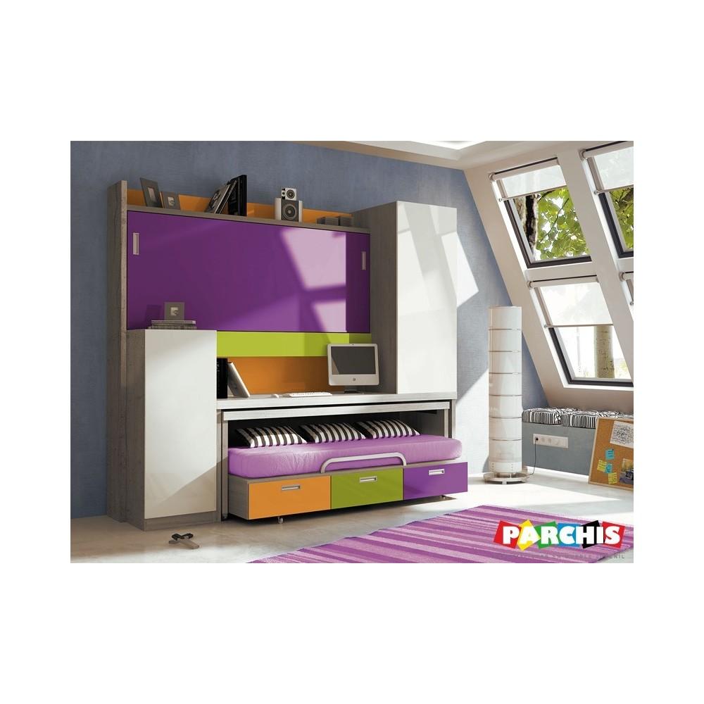 Juveniles para espacios reducidos dormitorios con literas - Camas nido abatibles ...