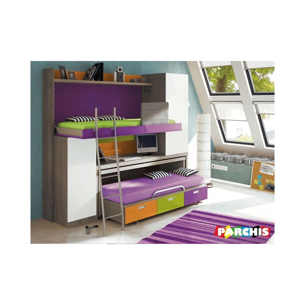 Literas juveniles abatibles para pladur muebles for Muebles juveniles para espacios reducidos