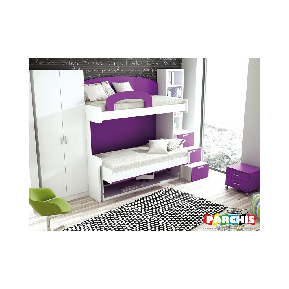 Muebles juveniles literas cama mesa literas convertibles for Literas juveniles con escritorio