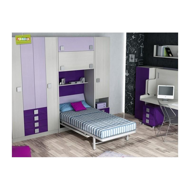 Dormitorios con Camas Abatibles Verticales con Cajonera