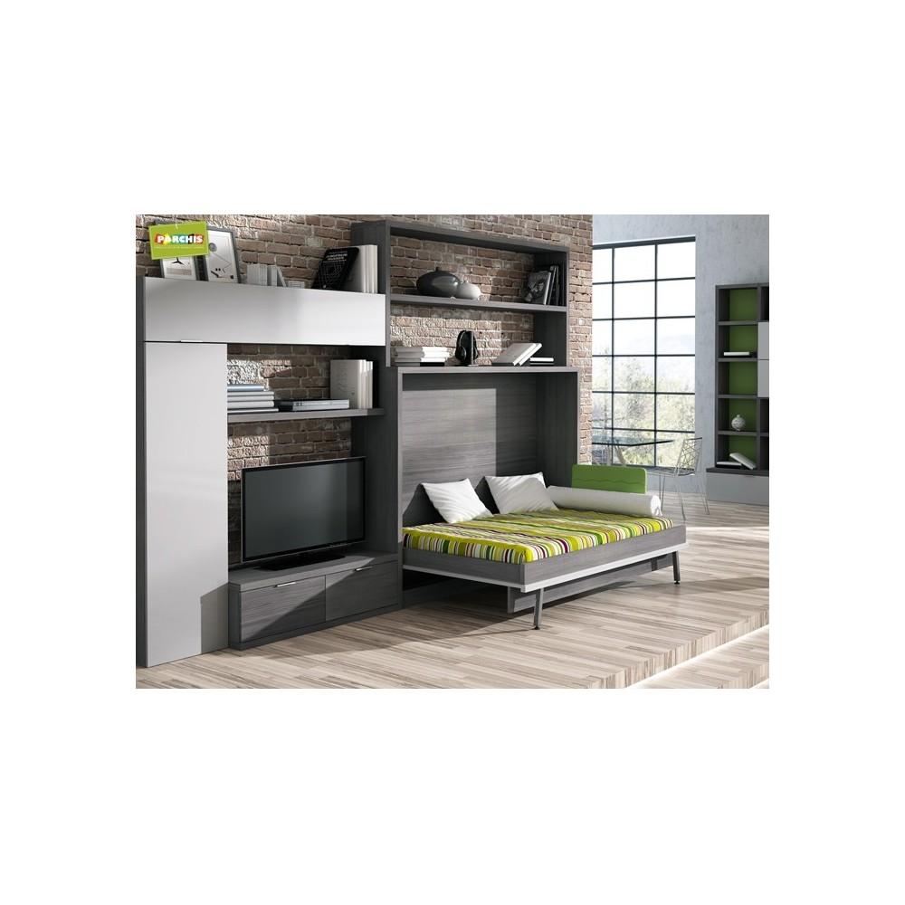 camas ocultas para salones, muebles cama horizontales, muebles ...