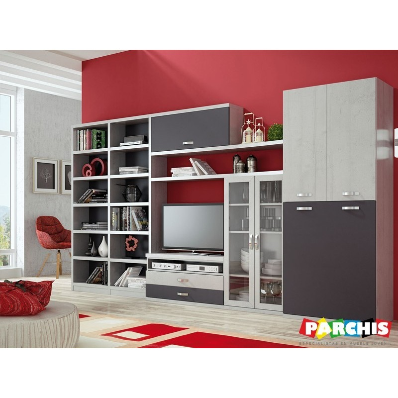 Muebles juveniles para salones modernos con camas plegables - Camas muebles plegables ...